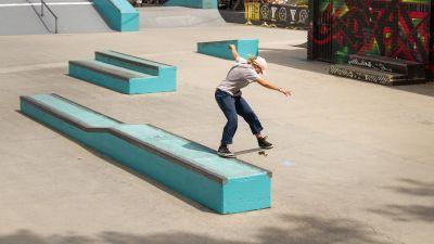 Progression skate jump