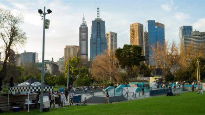 Skate park in Melbourne