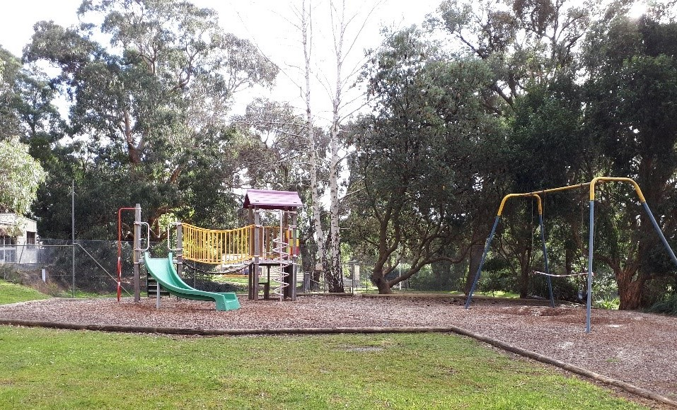 Before: Photo of the play space in 2020