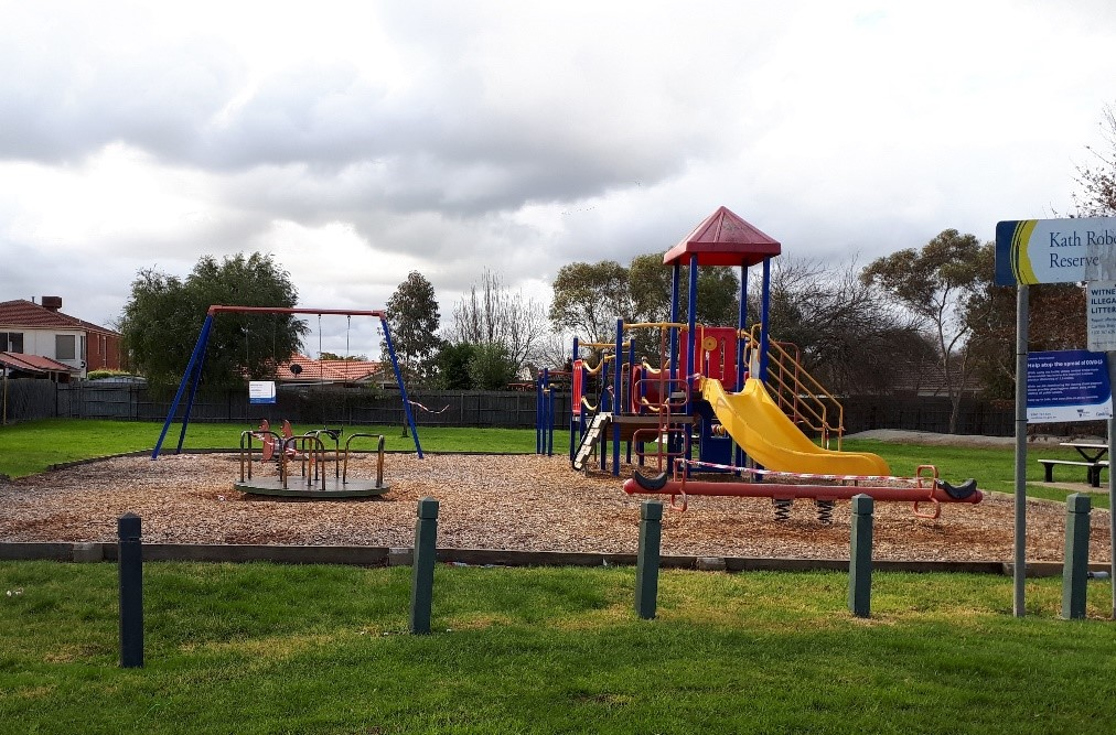 Before: Photo of play space in 2020