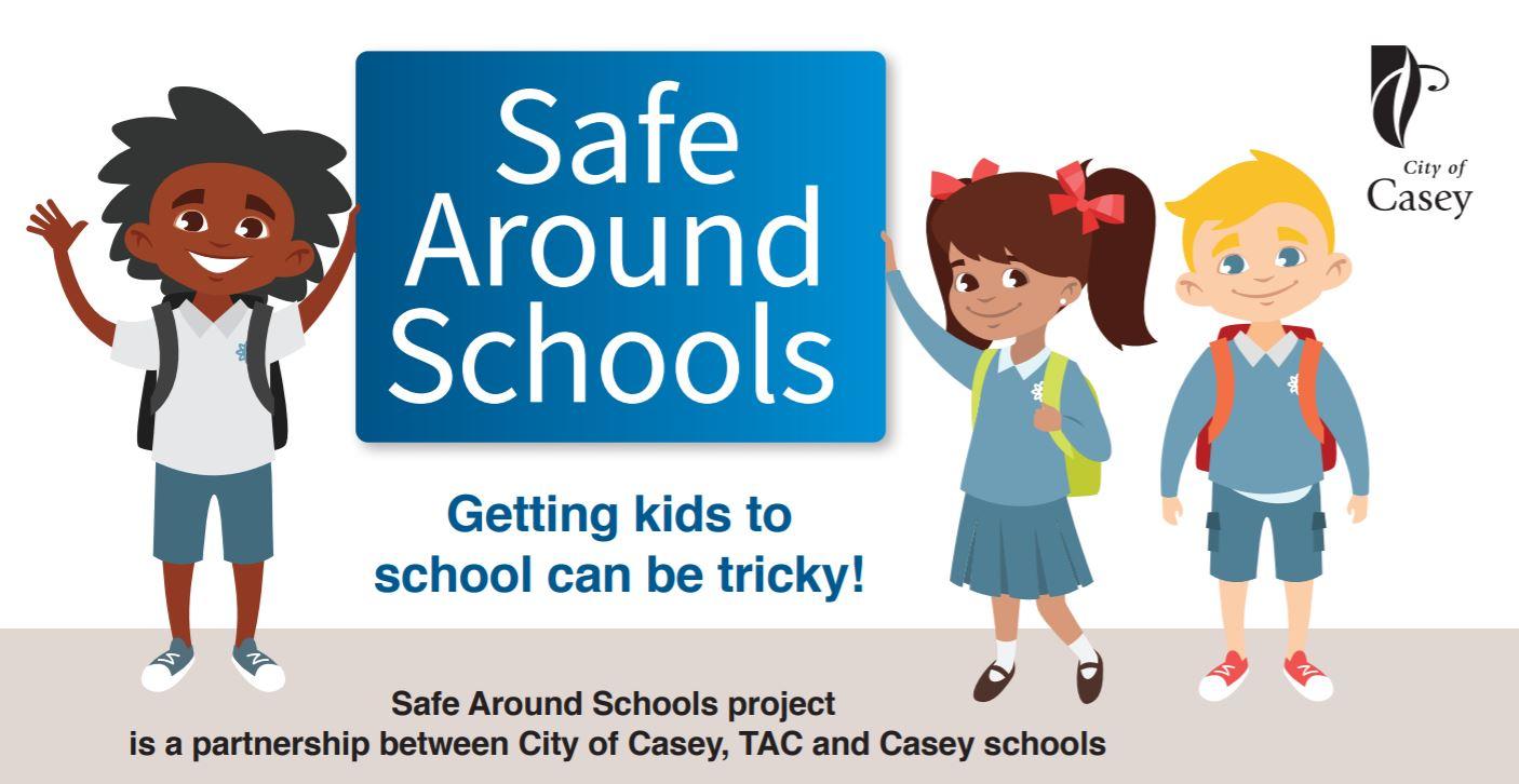 Safe Around Schools promo graphic
