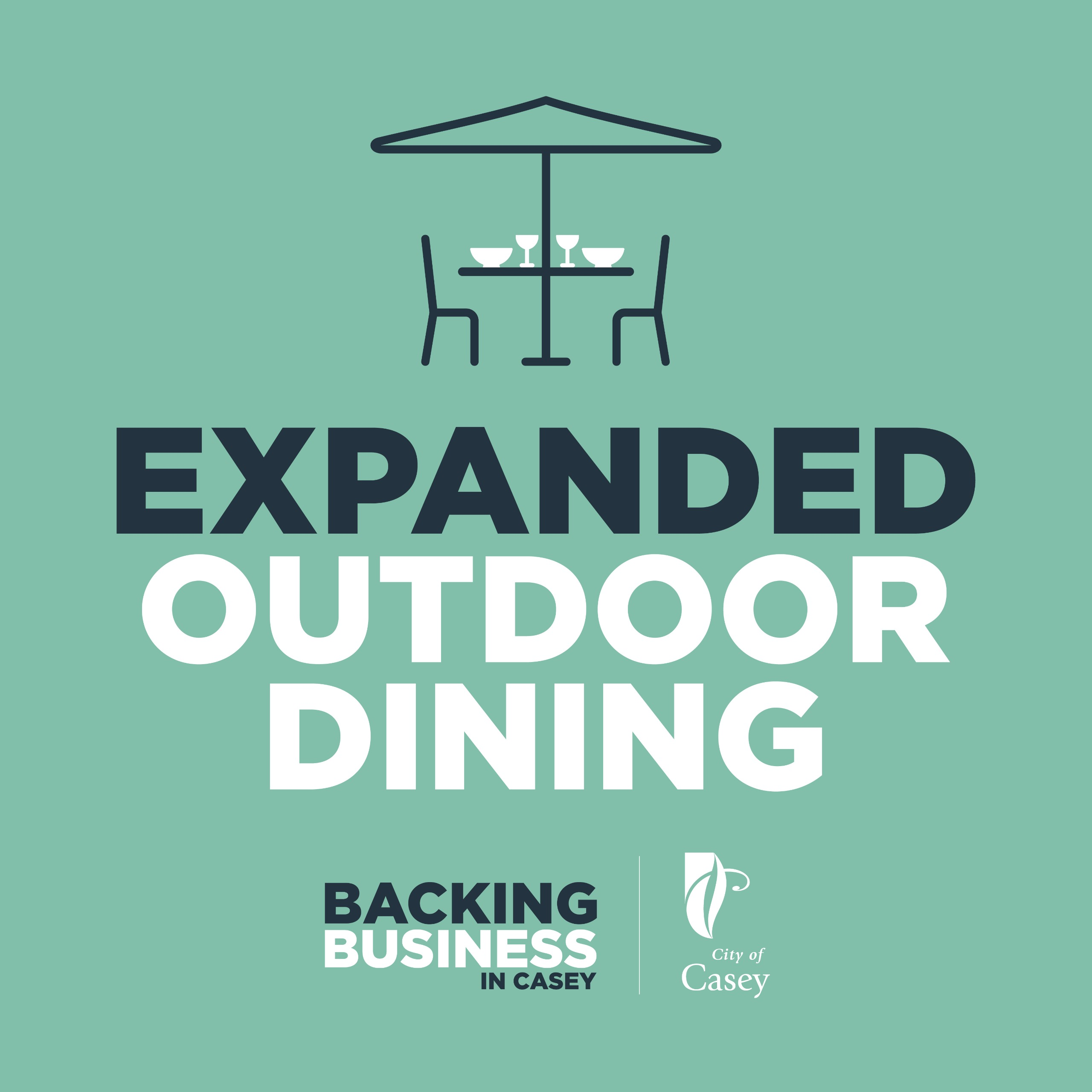 Graphic of Expanded outdoor dining