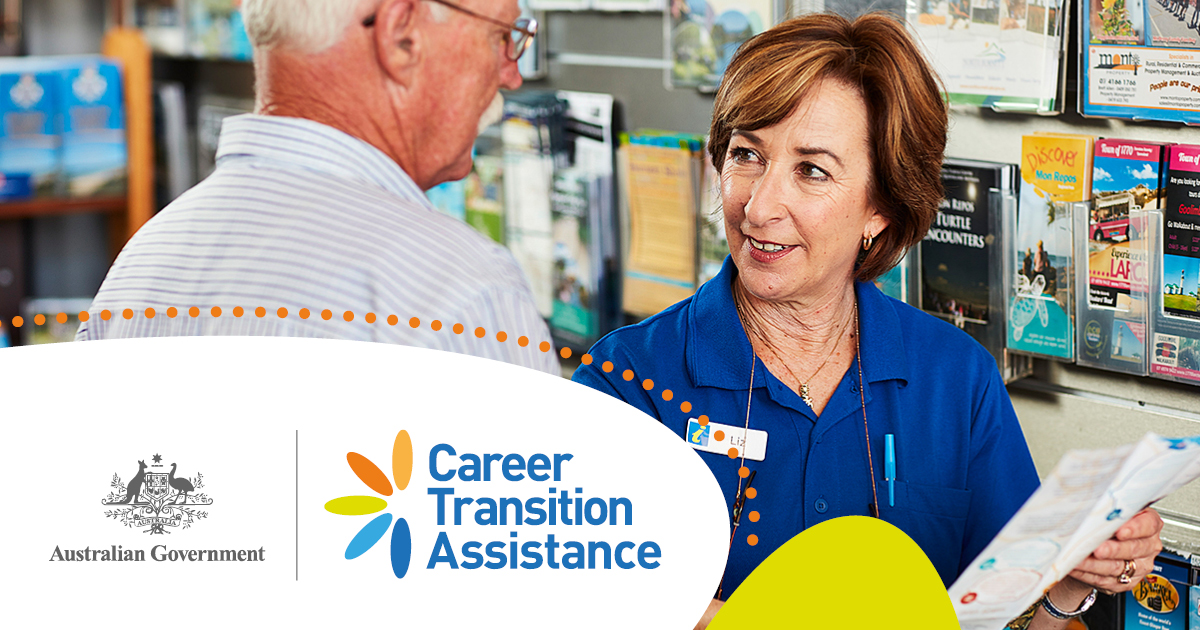 Career Transition Assistance Image two people talking