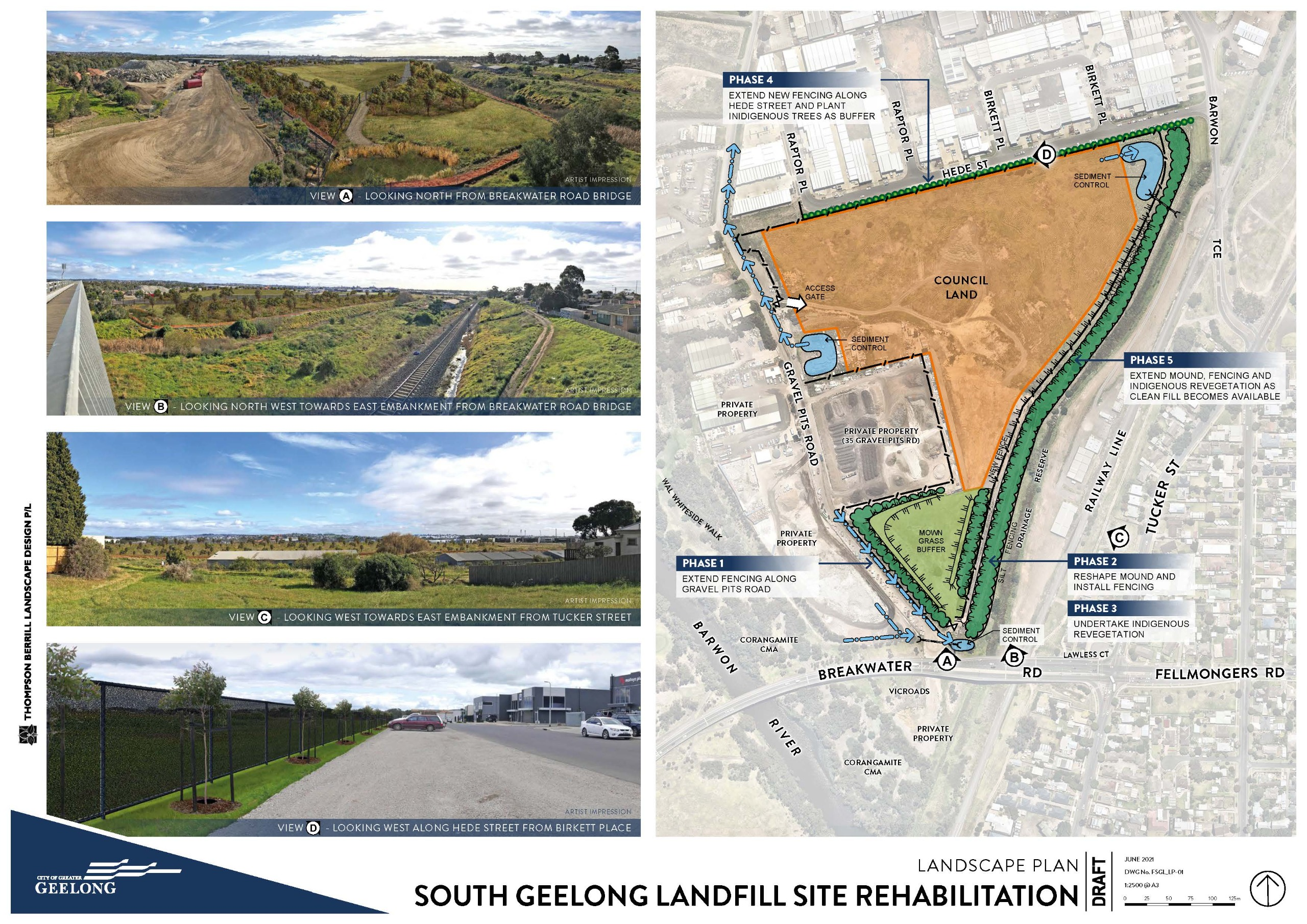 Former South Geelong Landfill Site Landscape Plan