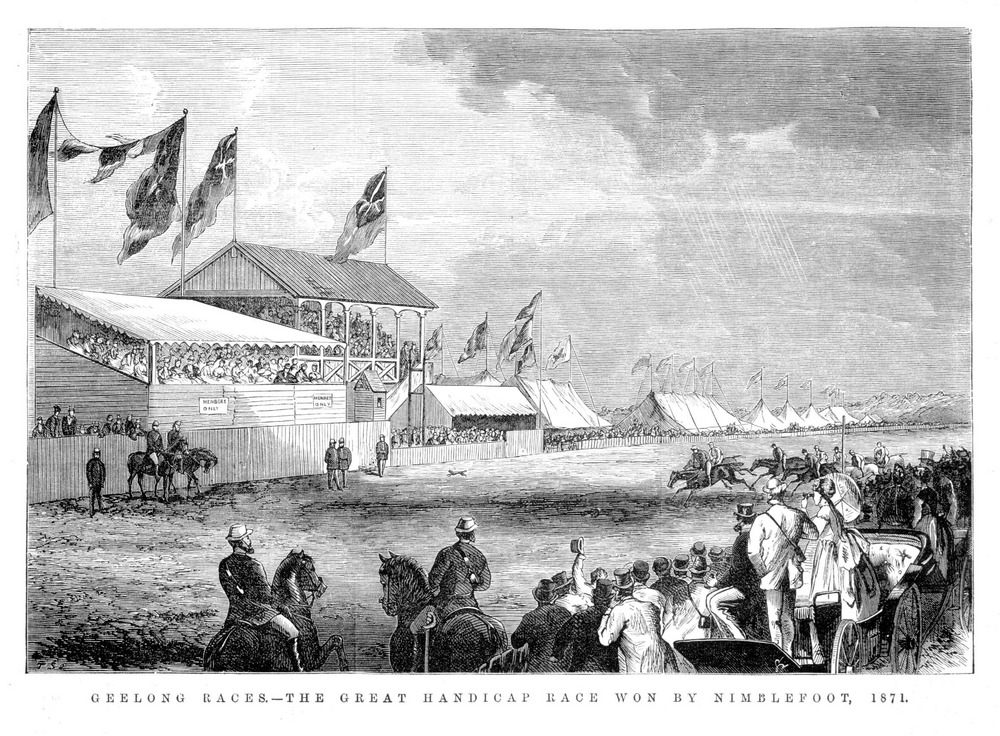 Geelong Races 1871 won by Nimblefoot