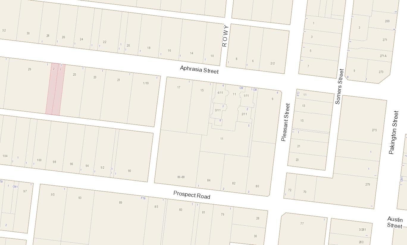 Map for proposed Kelvin Lane