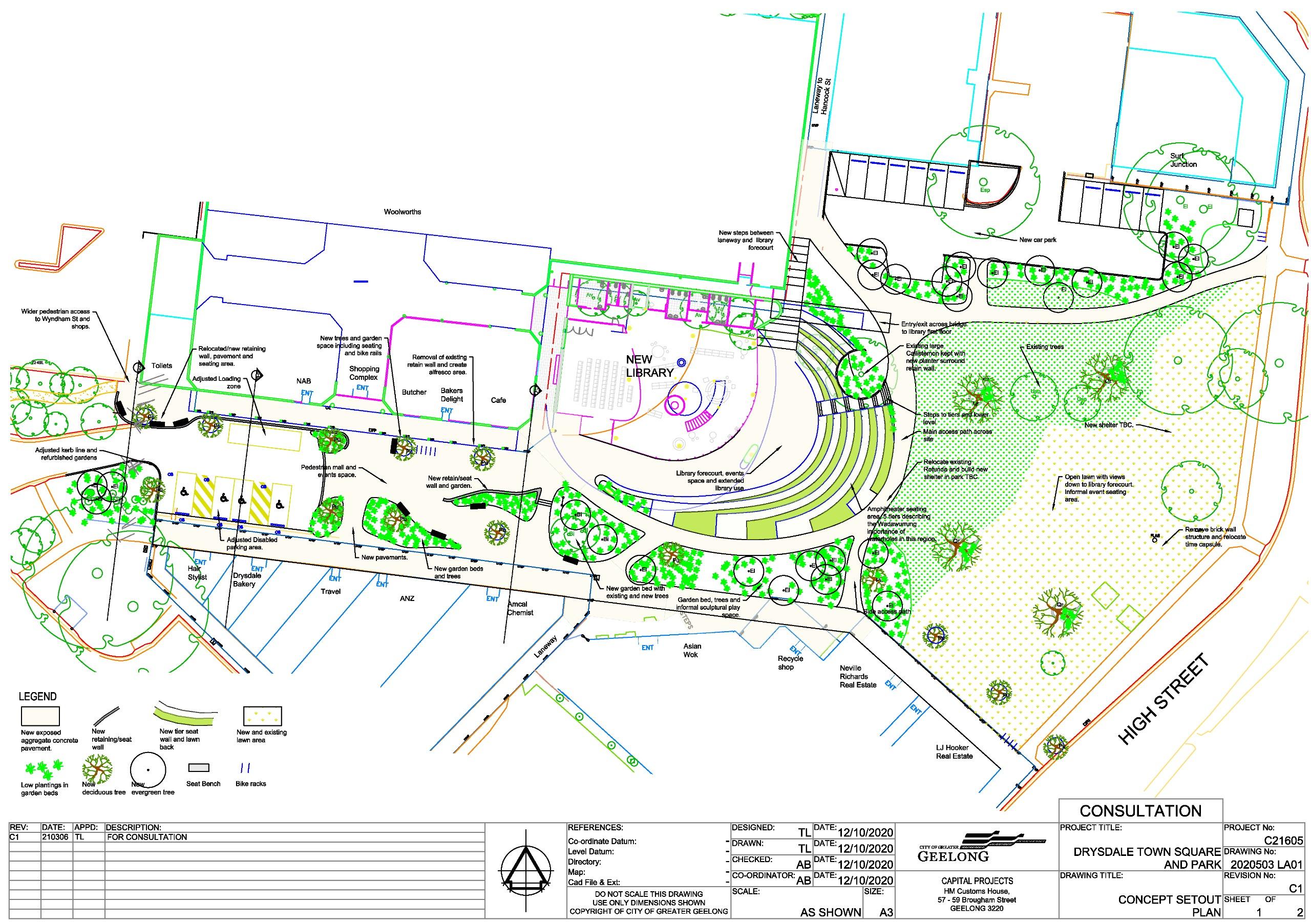 Drysdale Town centre Concept Plan
