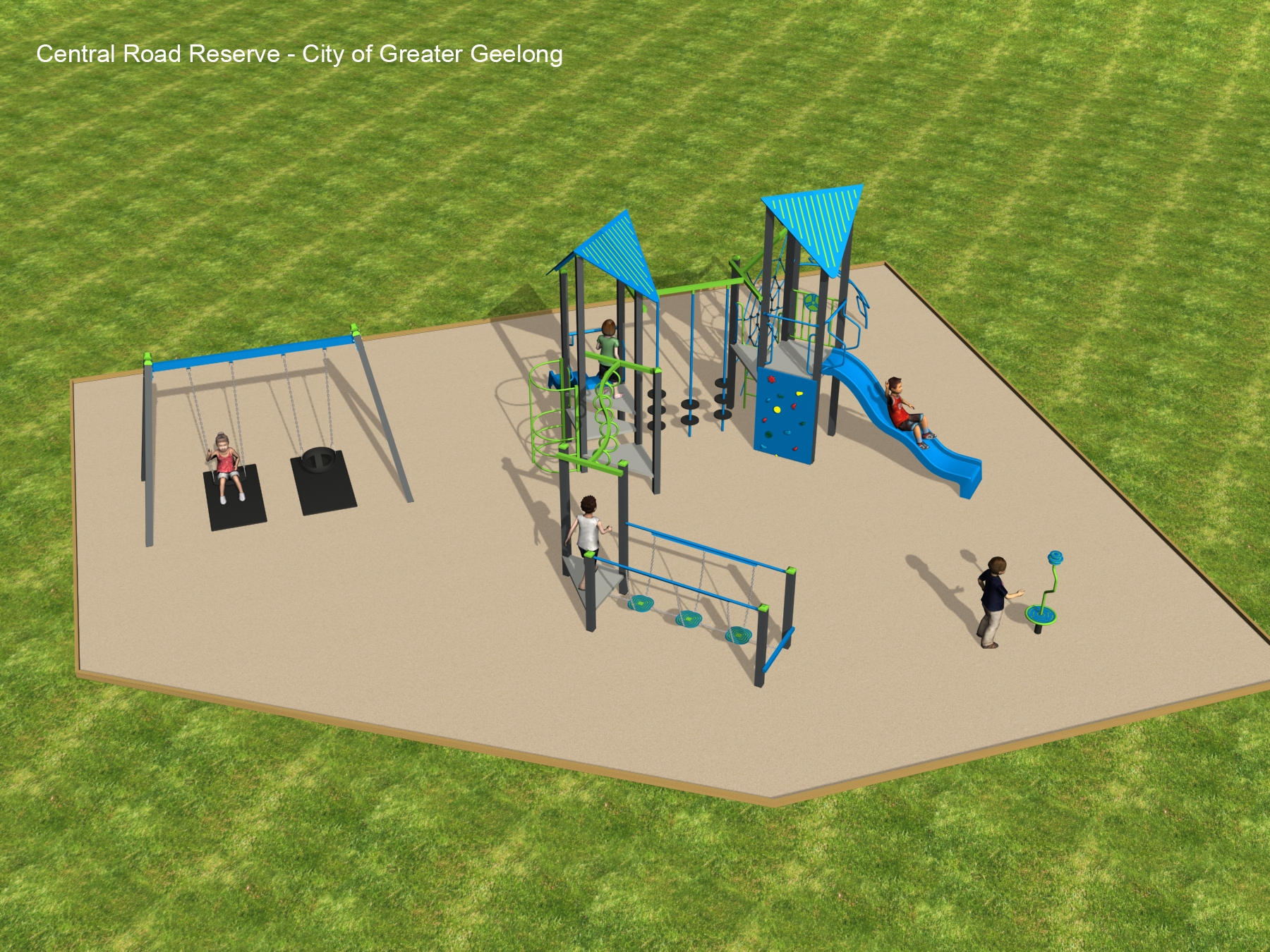 Central Road Reserve - proposed playground