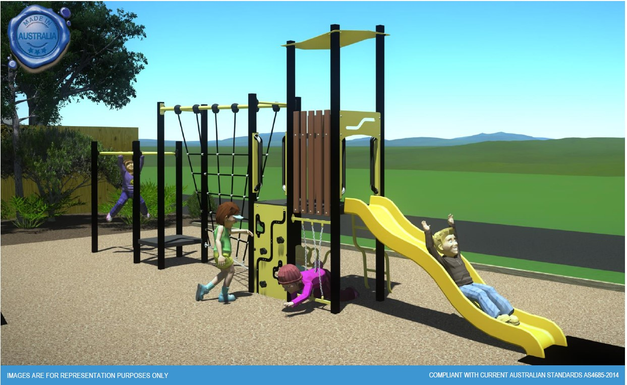 Rear view - Buckingham Reserve - proposed playground design