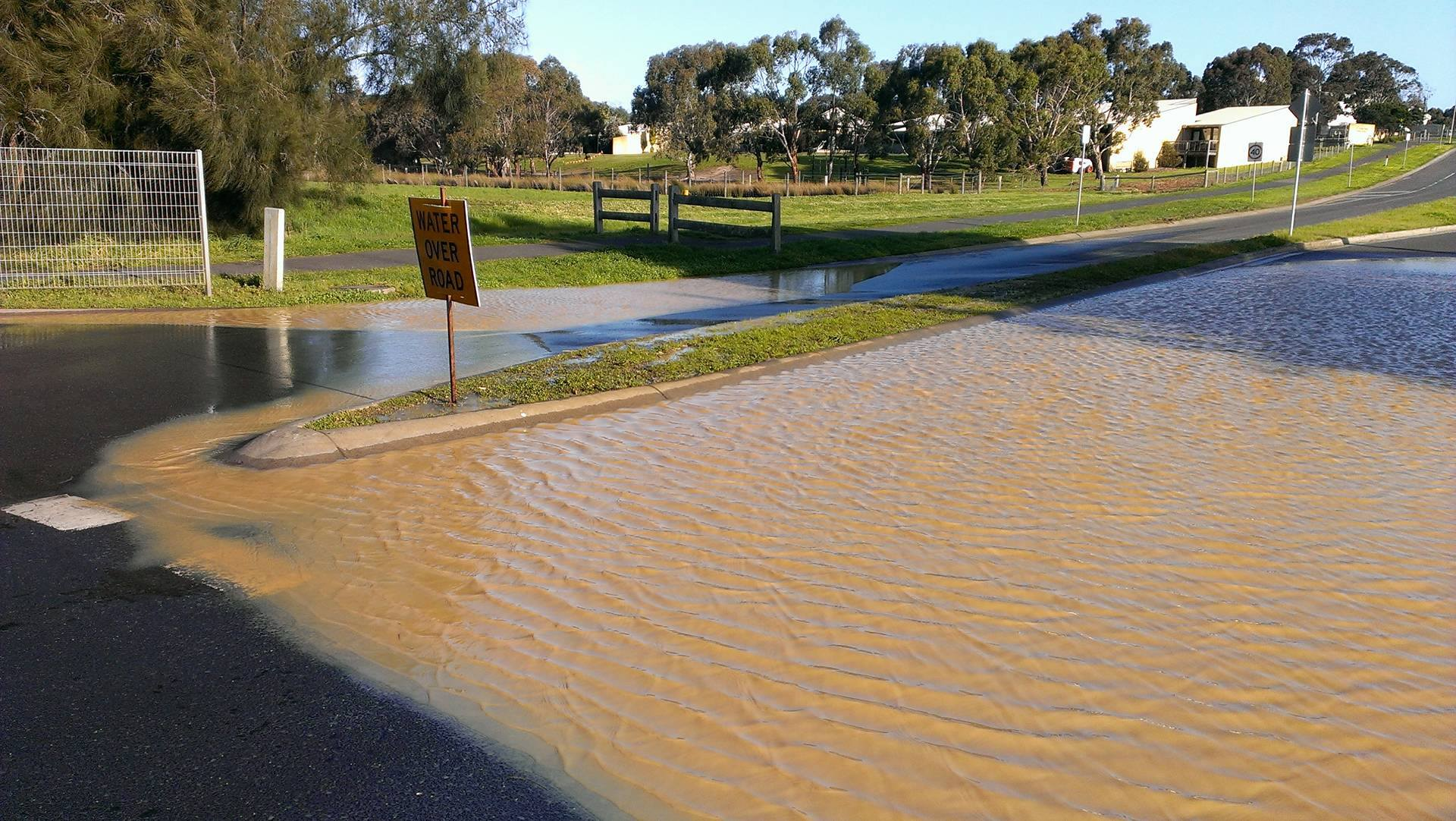 2017 flood event Anderson Road, Drysdale