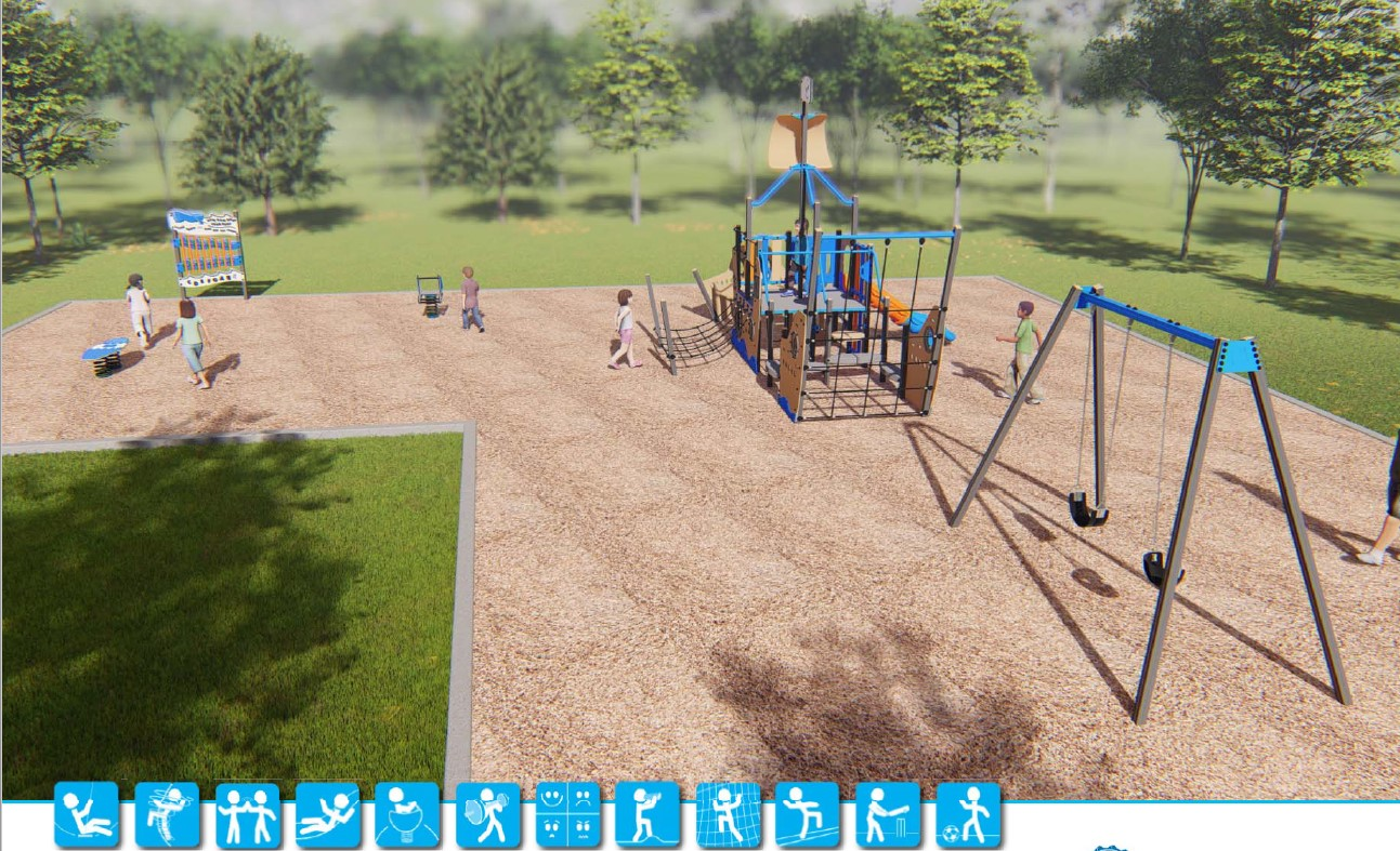 Rear View - St Helens Foreshore Reserve - proposed plaground design