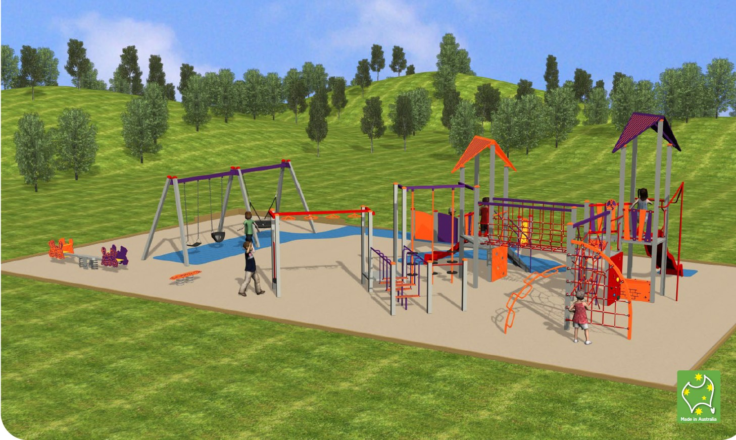 Rear view of proposed playground