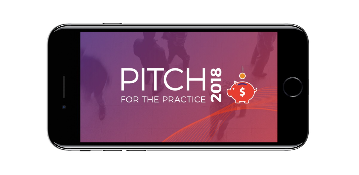 iPhone with Pitch for the Practice logo