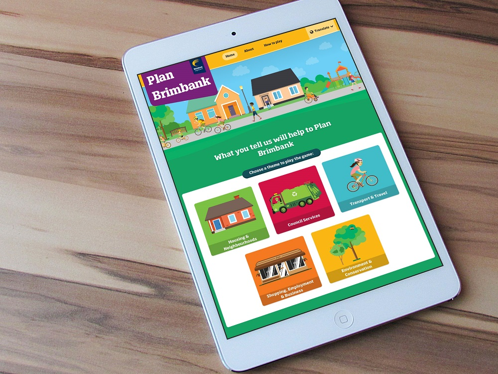 iPad with an image of the Plan Brimbank home page