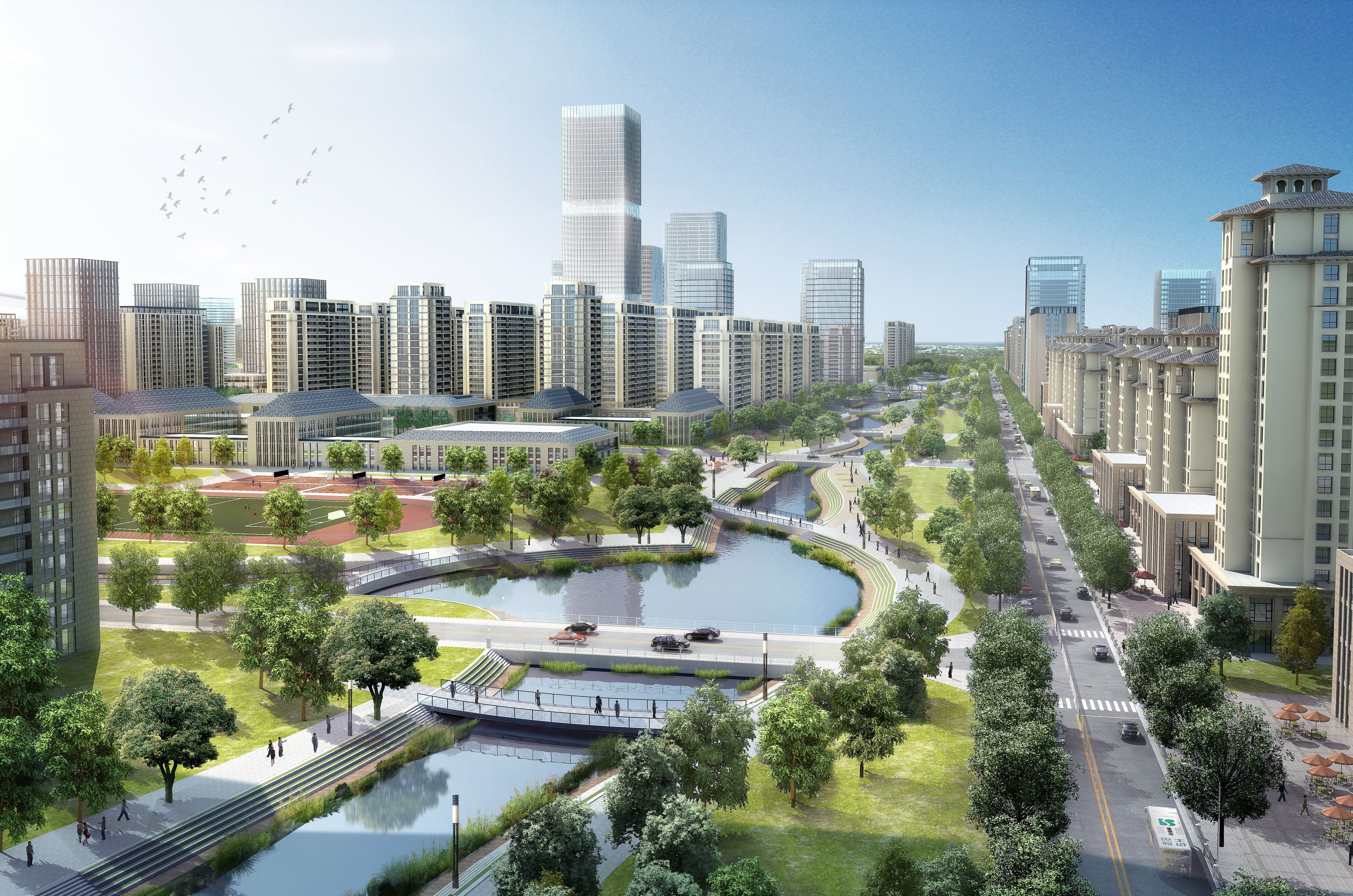 Image showing city of the future.