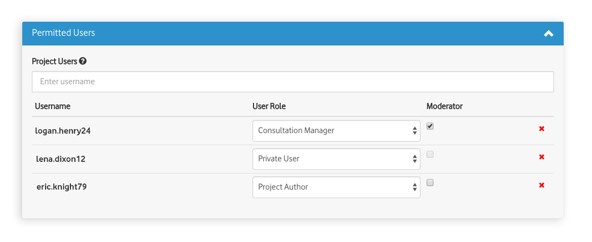 Manage user access