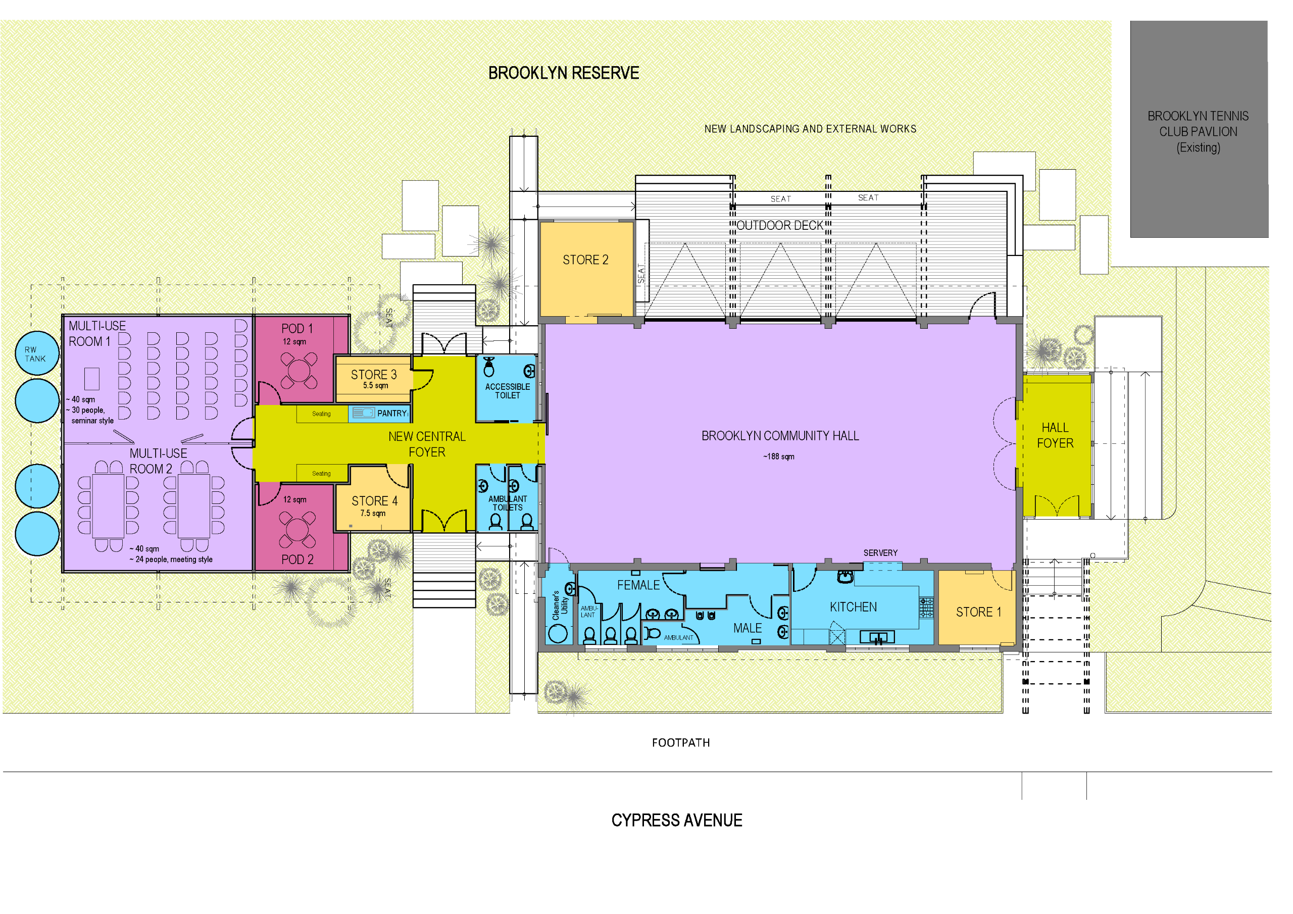 Brooklyn Community Hall Concept Plan (Colour)