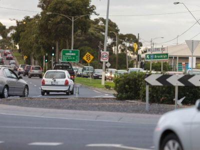 Traffic at Millers Road Roundabout