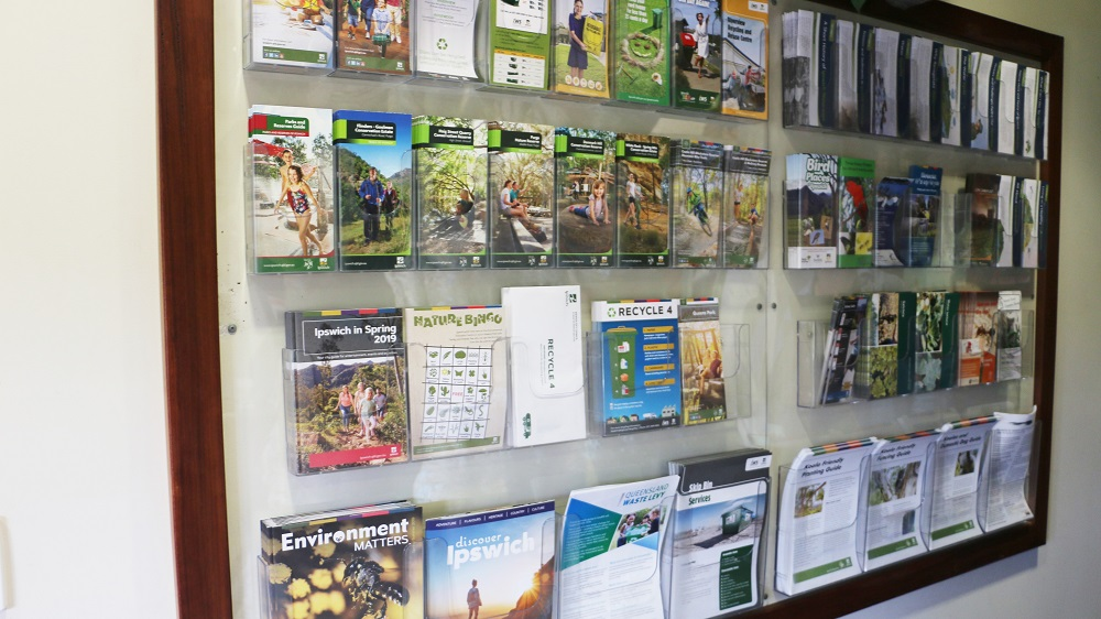 Brochures display