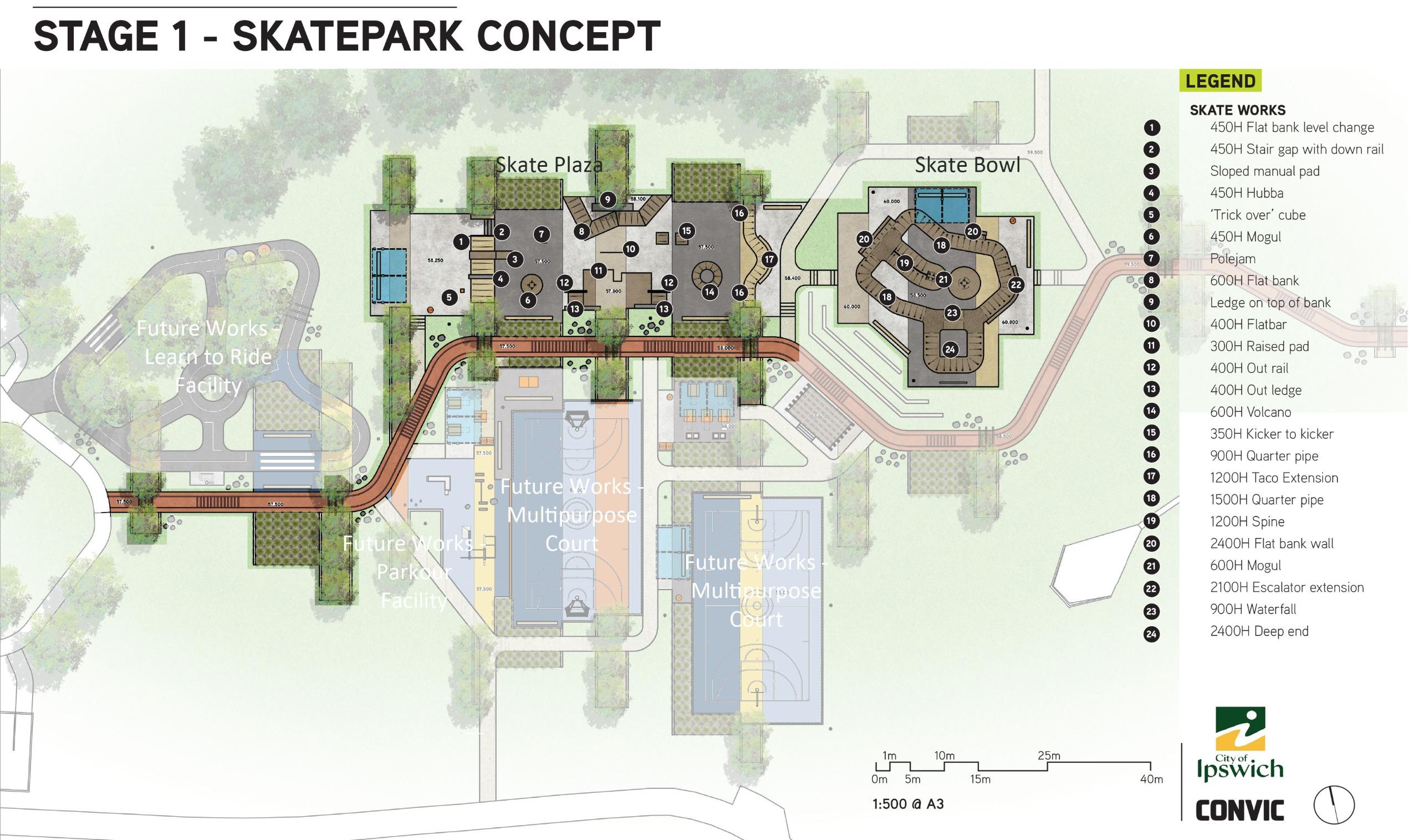 Stage 1 skate park design concept