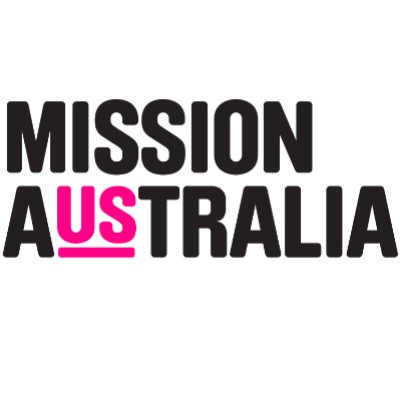 Mission Australia logo is two words of the name