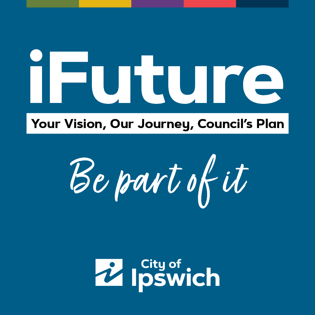 Blue background with wording for iFuture Be a Part of It