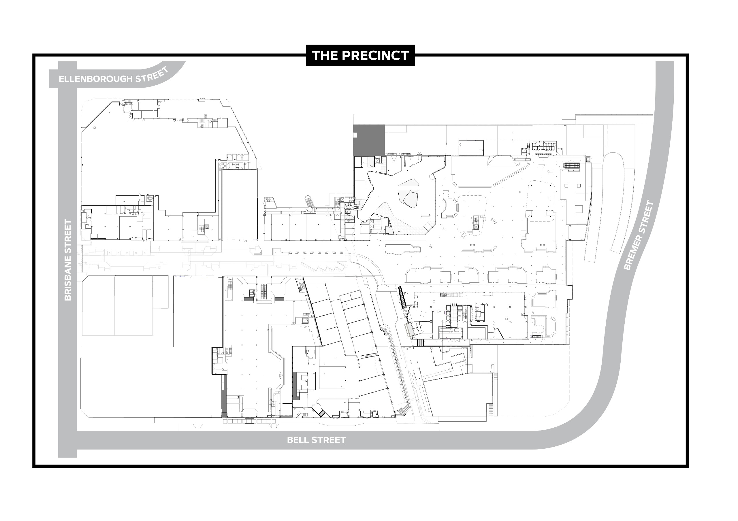 Line drawing map of the precinct to be named