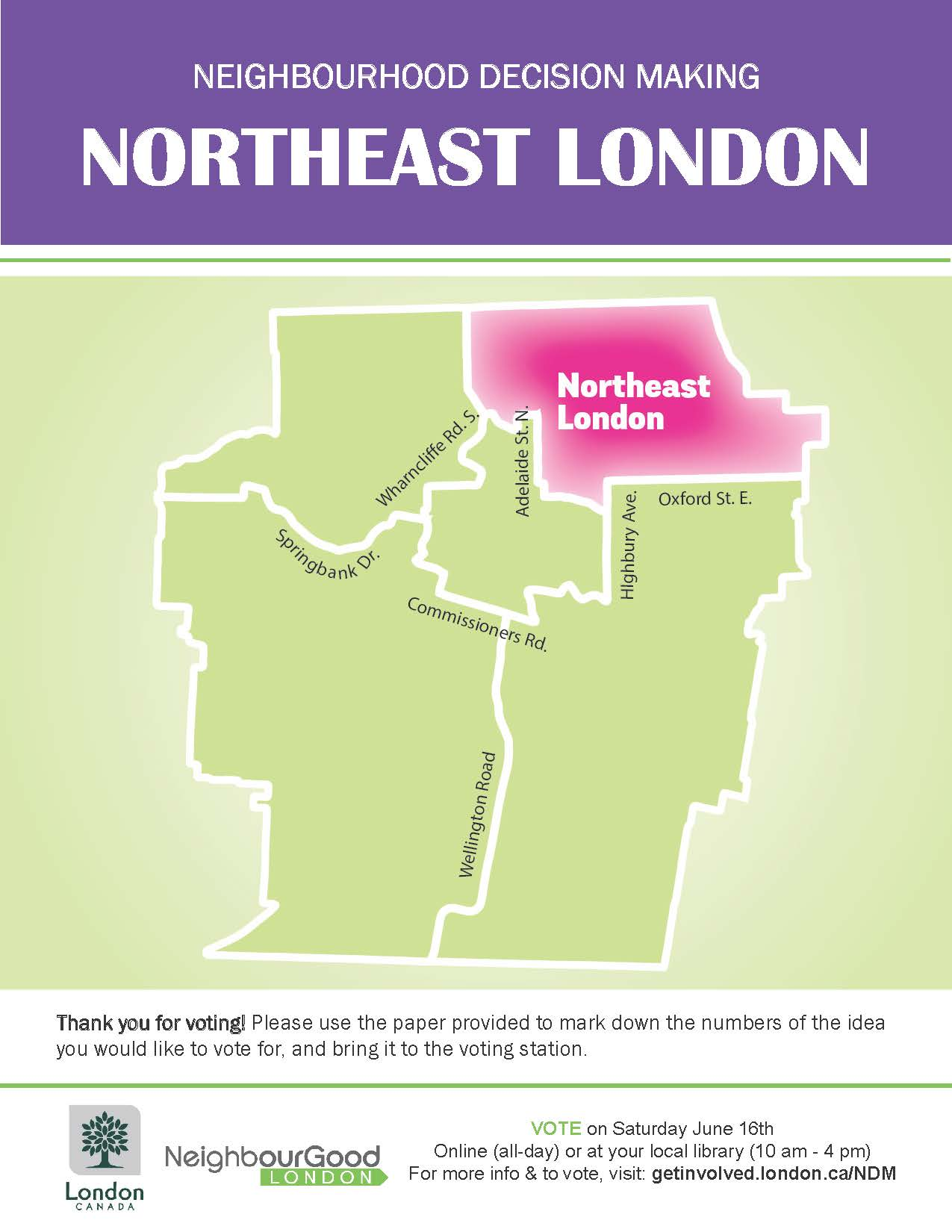 Map Of North East London.Northeast London Neighbourhood Decision Making Get Involved London