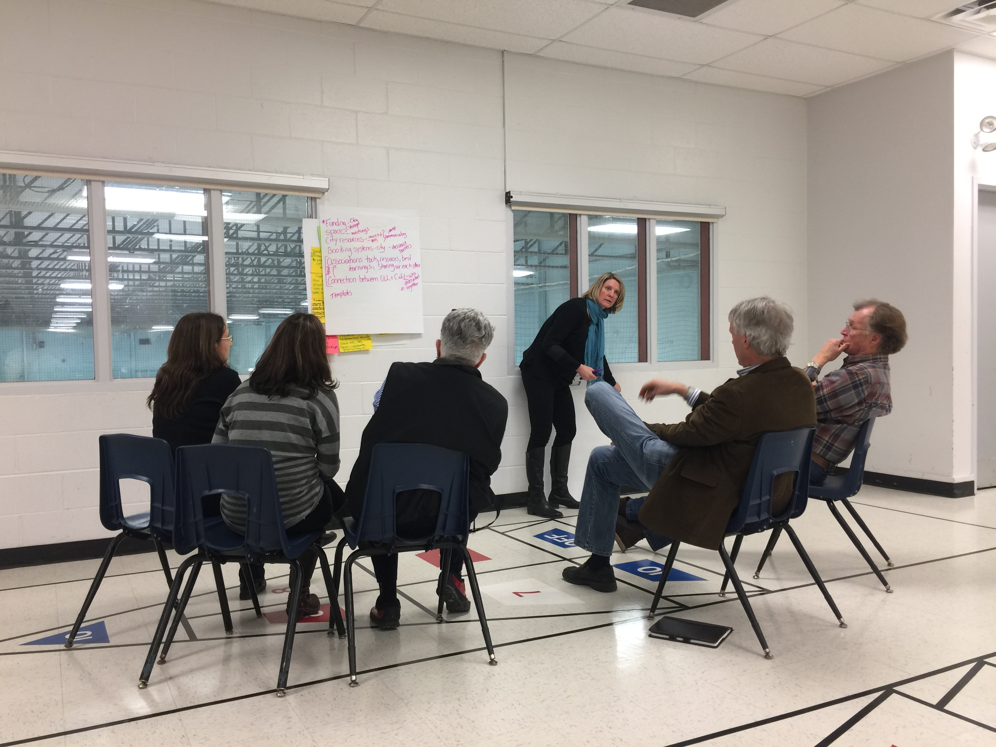 Neighborhood Association leaders developing the draft strategies at the Medway Community Centre.