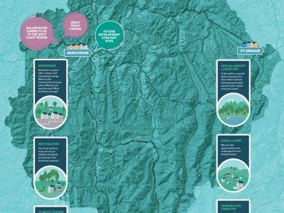 Waahi map of Upper Buller region
