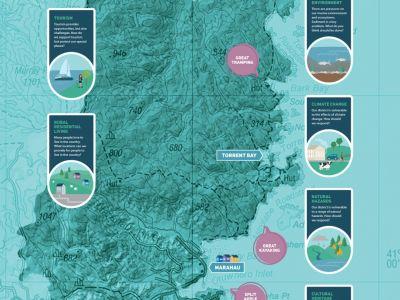 Waahi map of Abel Tasman region