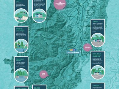 Waahi map of Tākaka region