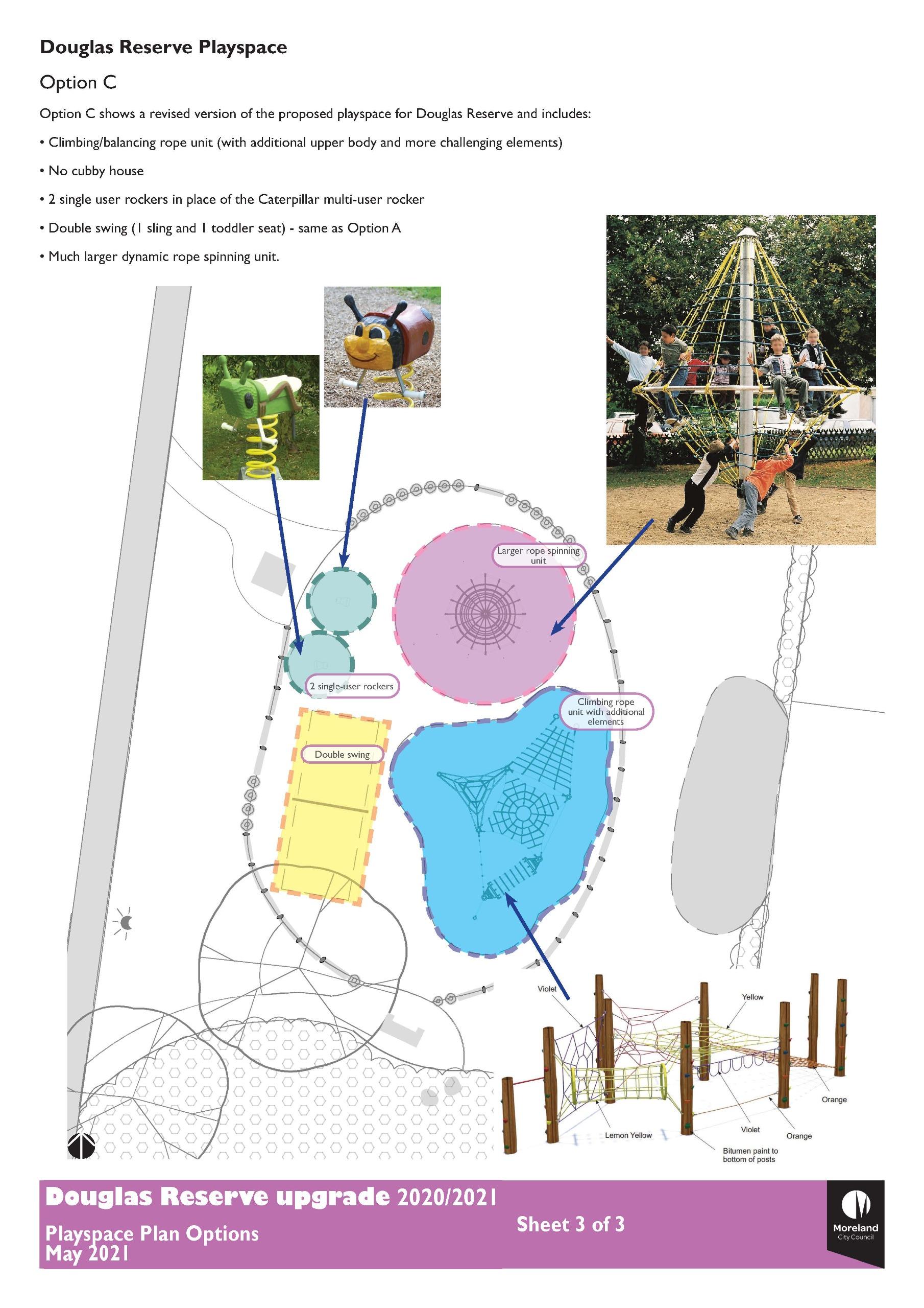 Douglas Reserve Playspace Option 3