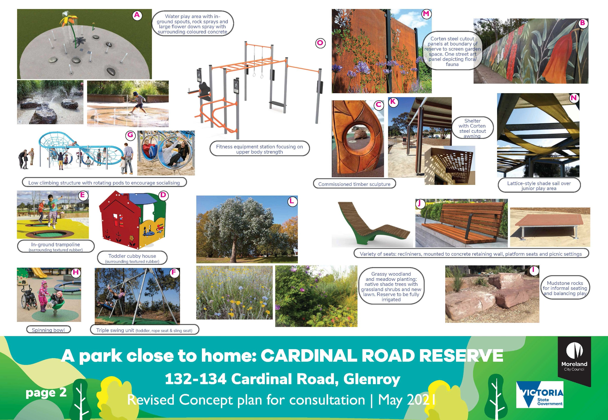 Cardinal Road Reserve revised concept plan page 2