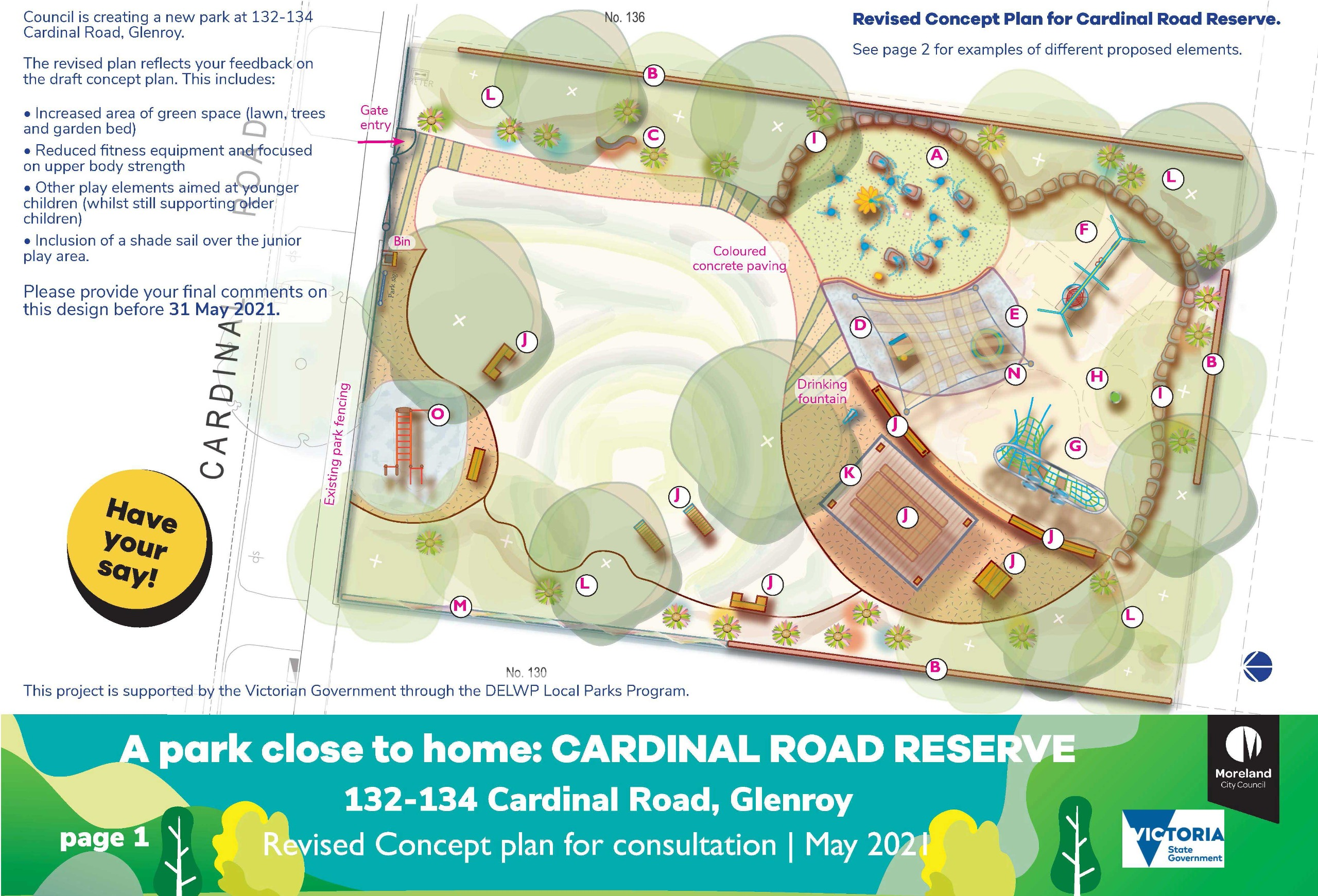 Cardinal Road Reserve revised concept plan page 1