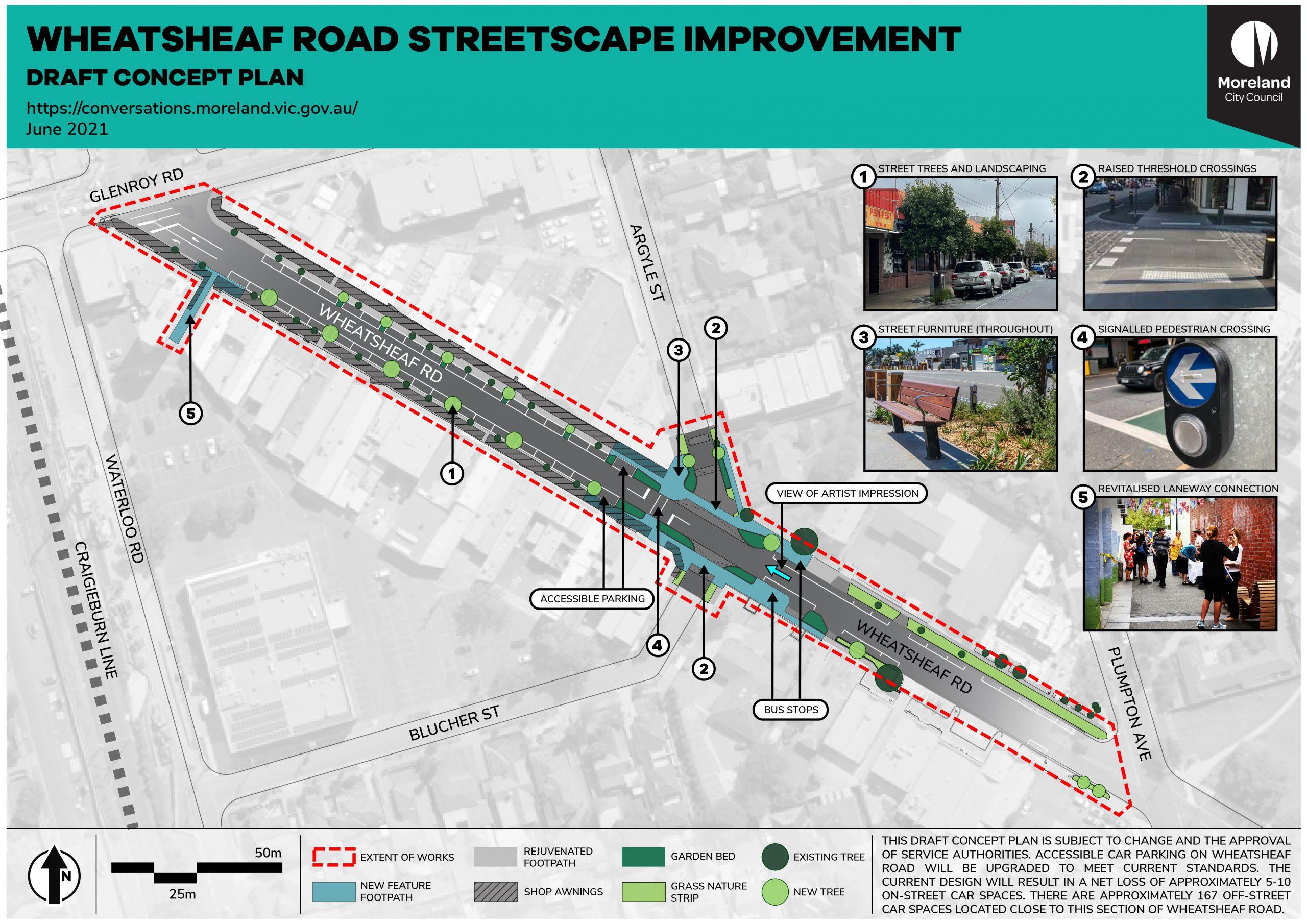 Wheatsheaf Road Streetscape Improvement Draft Concept Plan