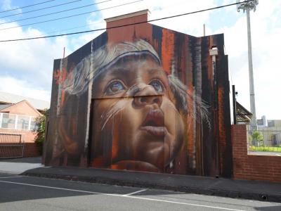 Aboriginal artwork at 33 Saxon Street