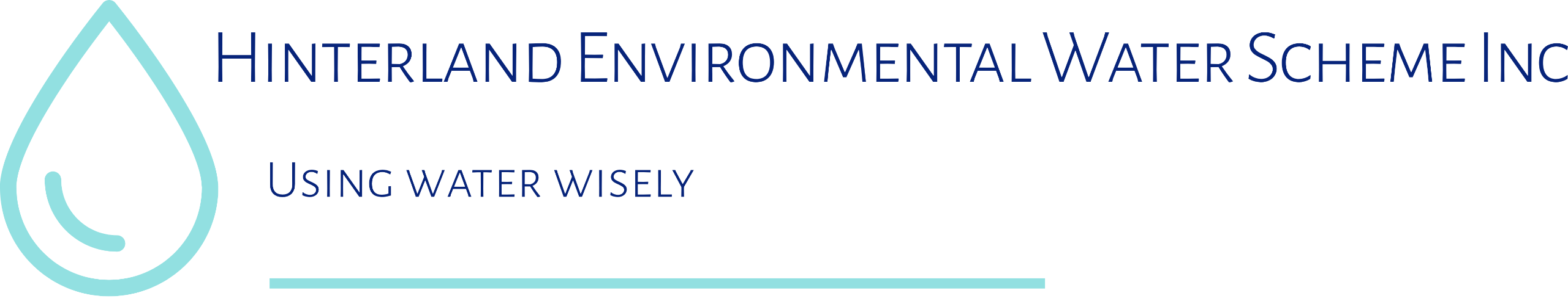 Hinterland water logo