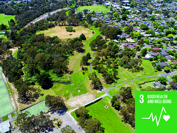 Aerial picture of Dandenong Creek