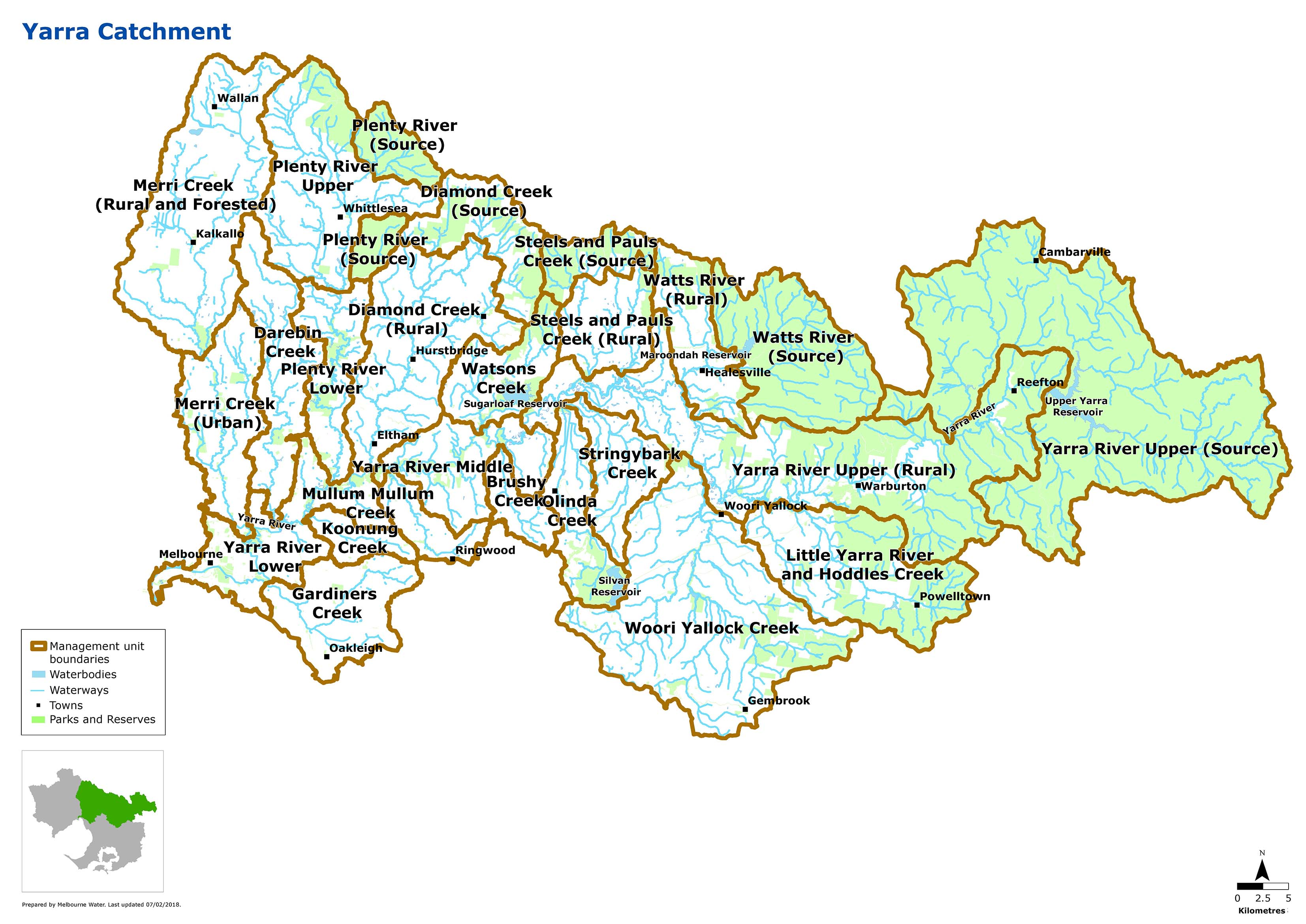 Map of Yarra Catchment
