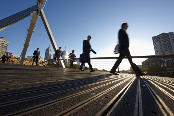 Image of people walking