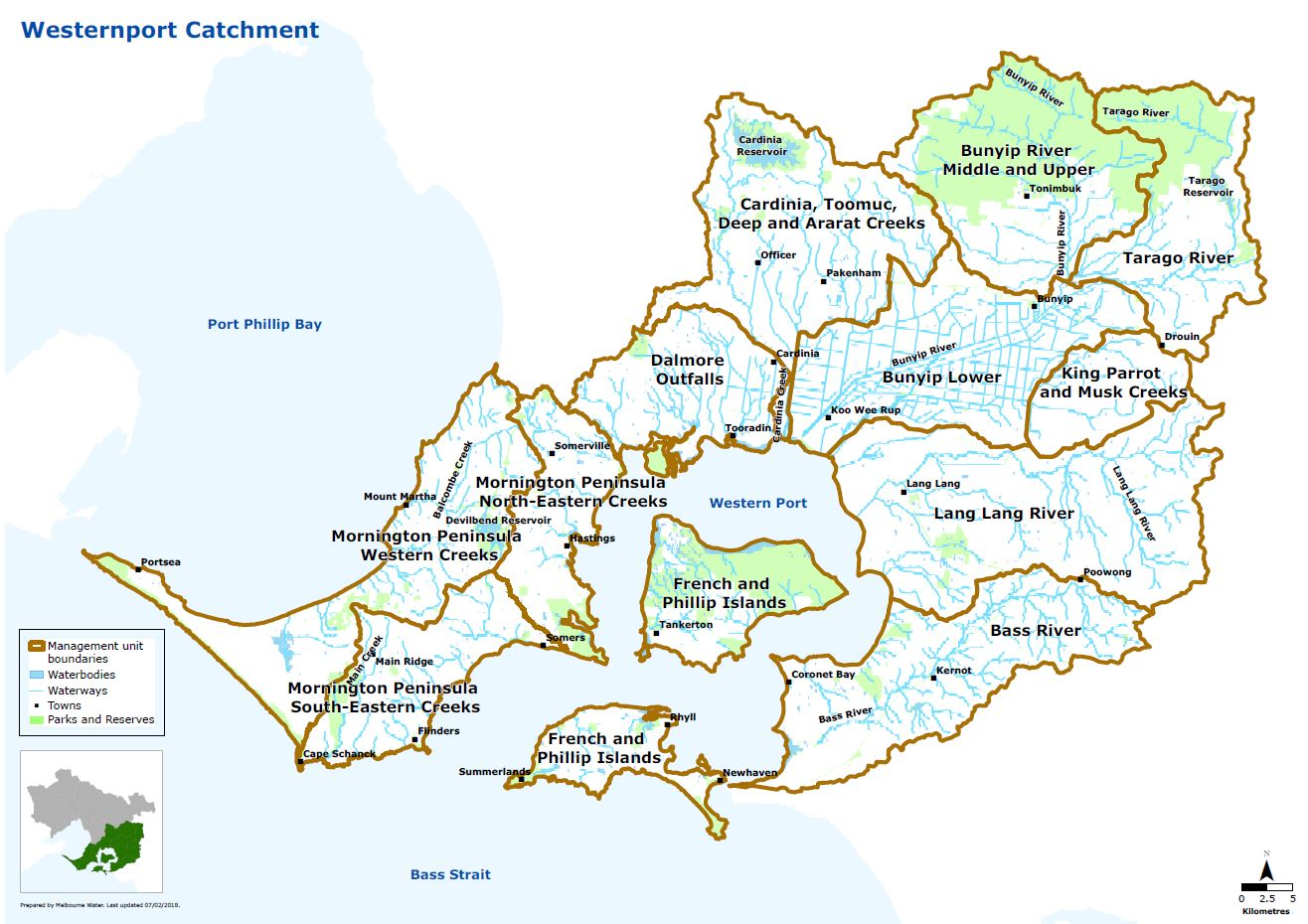 Map of Westernport catchment
