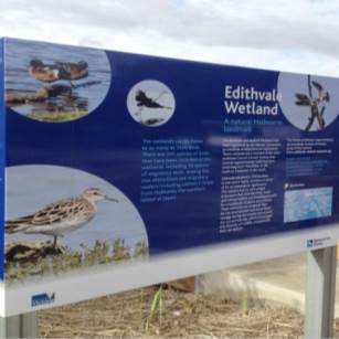 picture of edithvale wetlands signage