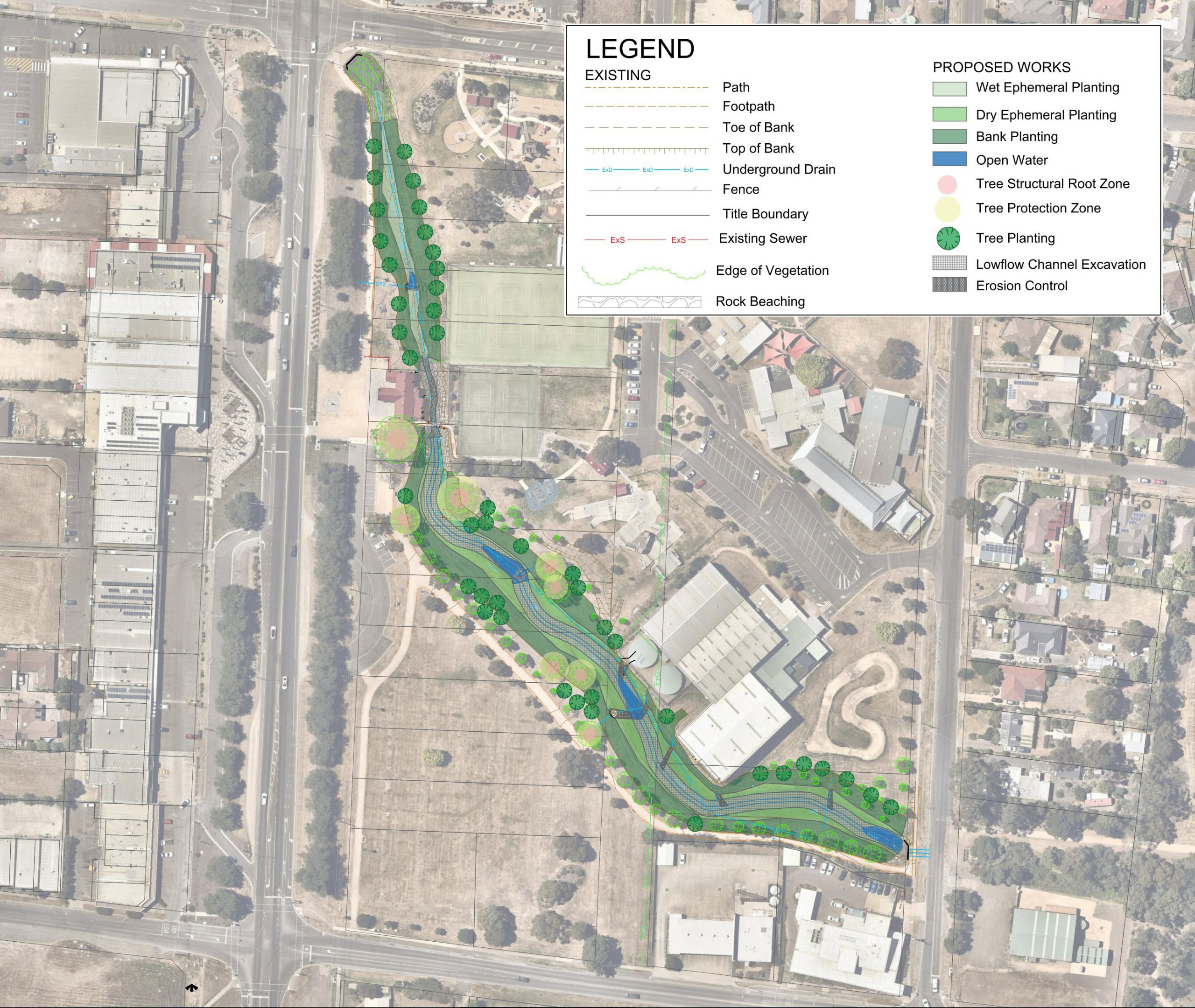Concept design map of Hadfield Park
