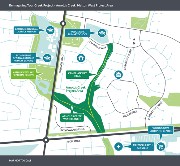 Arnolds Creek site map