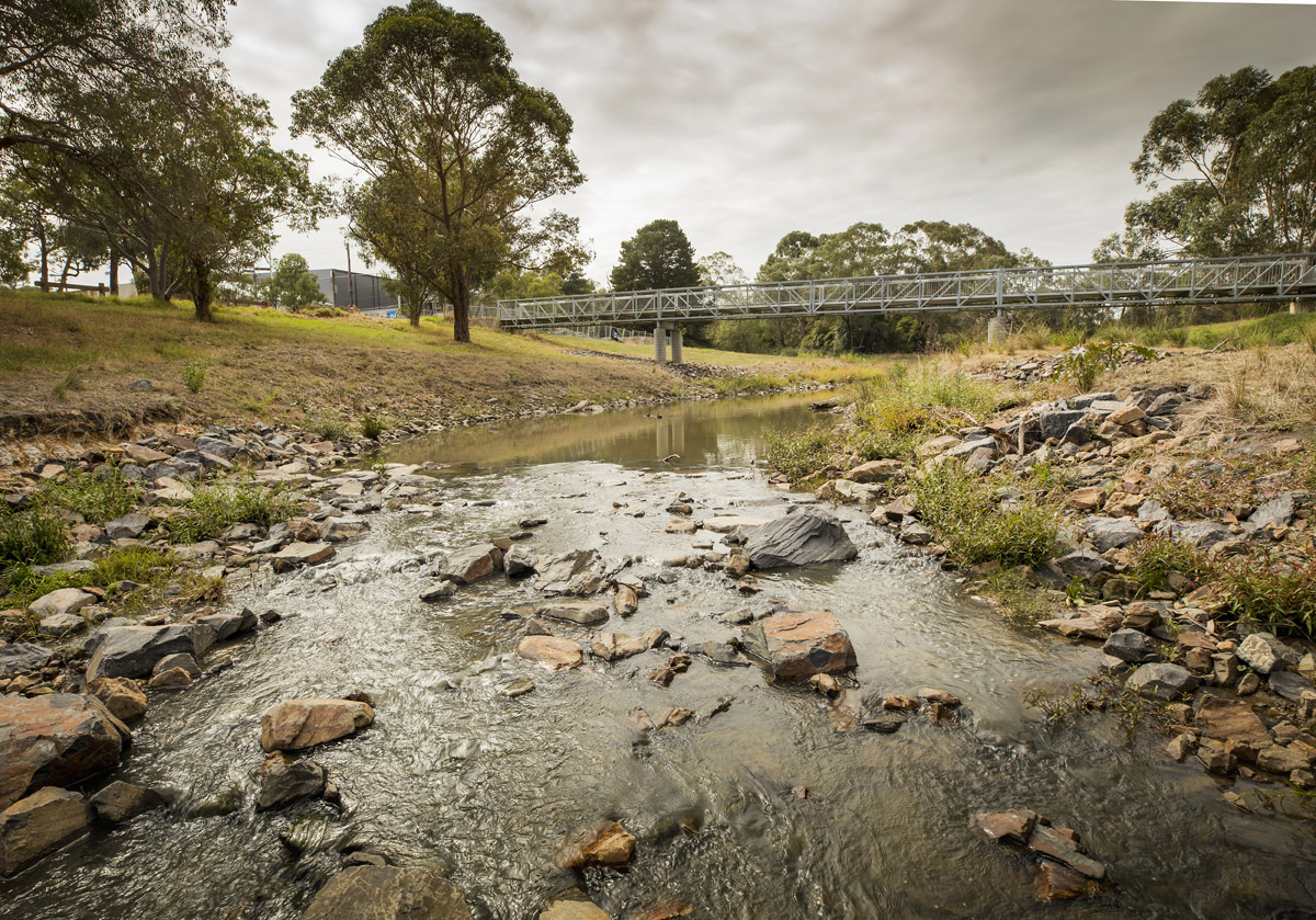 Dandenong Creek at H.E. Parker bridge, 2020