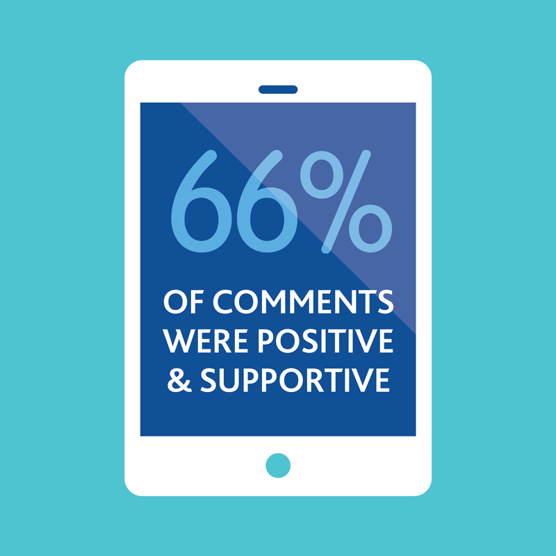66 per cent of comments were positive and supportive of the project.