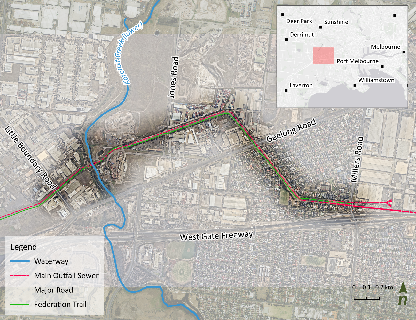 Map of the project area (Zone 9 of Greening the Pipeline)
