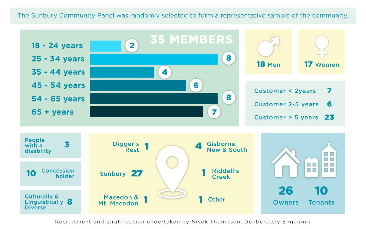 infographic of community panel demographics