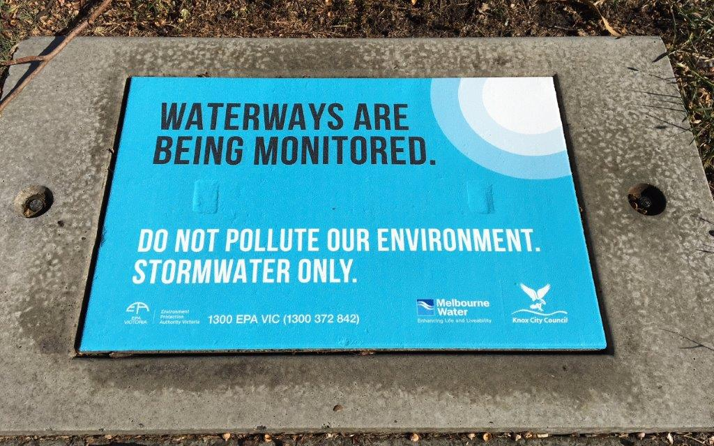 Stormwater pollution prevention graphic